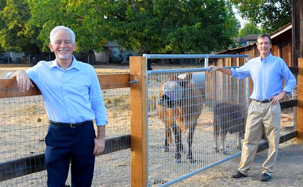 Ben Ford and Mark Landman at Veronda-Falletti Ranch in Cotati