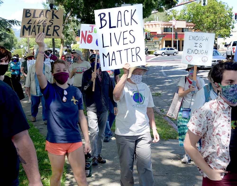 Cotati residents rally for Black Lives Matter, June 2020